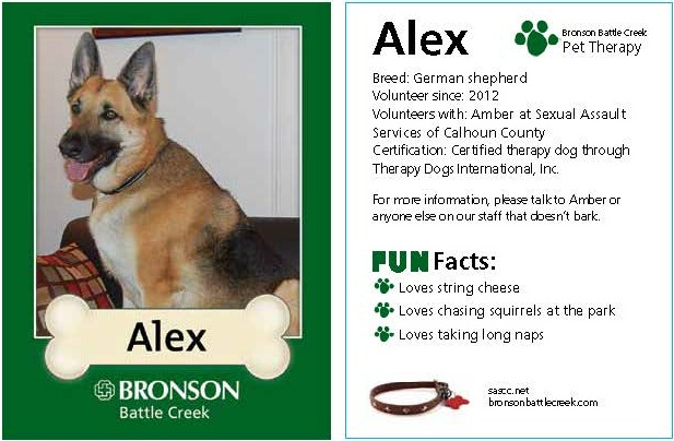 Alex Pet Therapy Trading Card