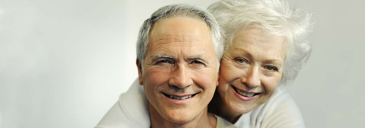 Picture of elderly couple.