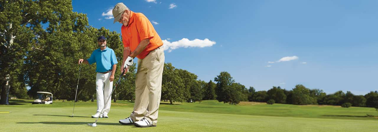 Roy, TAVR Patient Golfing