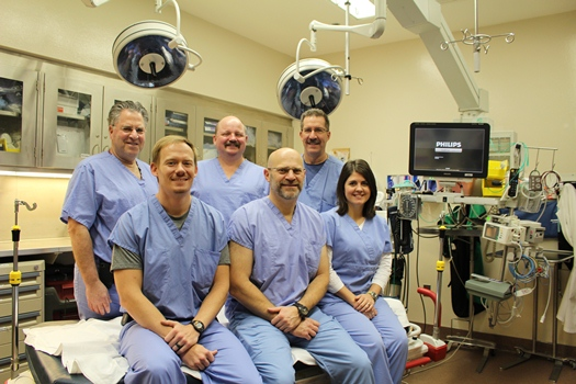Bronson's Trauma Surgery team includes l-r: