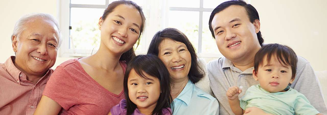 Asian family image