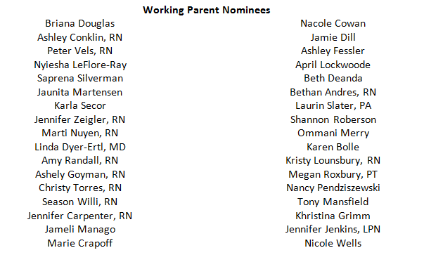 List of Working Parent Nominees