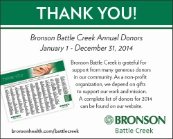 Bronson Battle Creek Annual Donors ad image