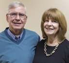 Don and Janet Volk standing after their surgeries
