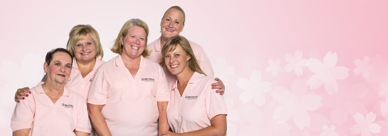 image of five breast cancer survivors.