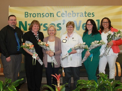 Bronson Battle Creek Nursing Excellence Award Winners Pose for Picture