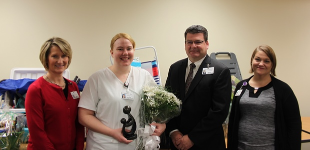 Nurse, Brenda Potter, receives DAISY Award for Extraordinary Nurses.