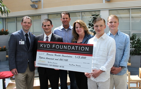 VanDam Family Presents Check to Bronson Health Foundation