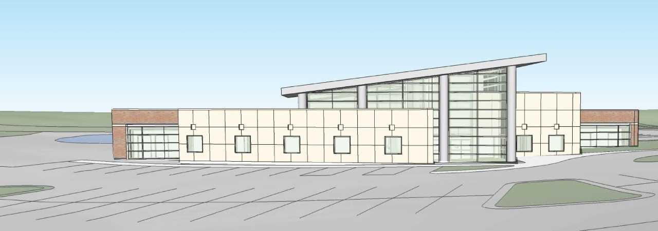 Image of building rendering at Helmer Road.