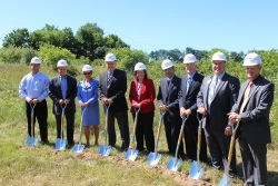 Image of group at groundbreaking ceremony.