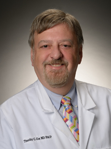 Headshot of Dr. Cox, medical oncologist