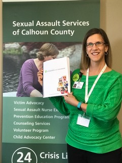 Image of Laurie Hartman, community educator at Sexual Assault Services.