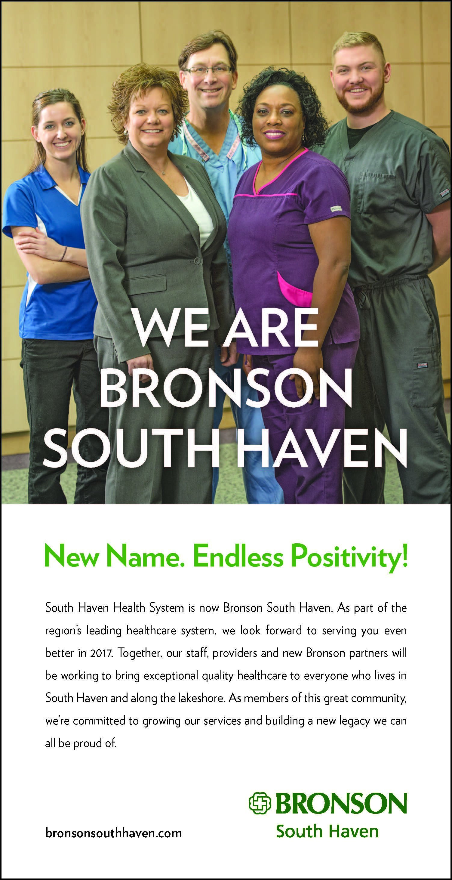 Print advertisement for Bronson South Haven.
