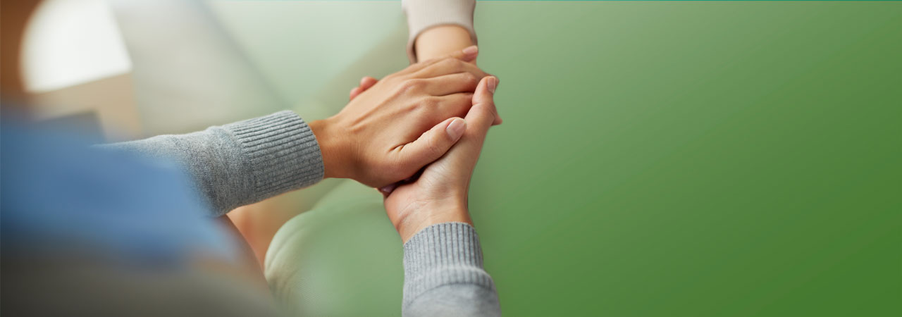 Bereavement hand holding