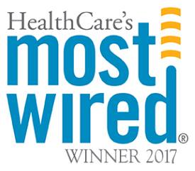 Image of HealthCare's Most Wired Winner 2017 logo.