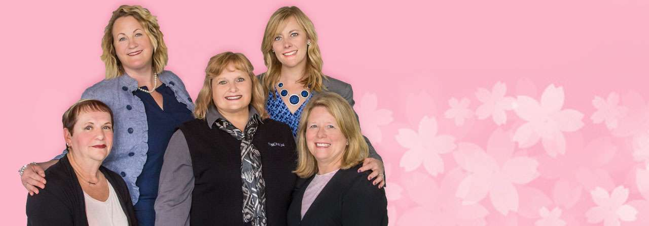 Photo of 5 breast cancer survivors.