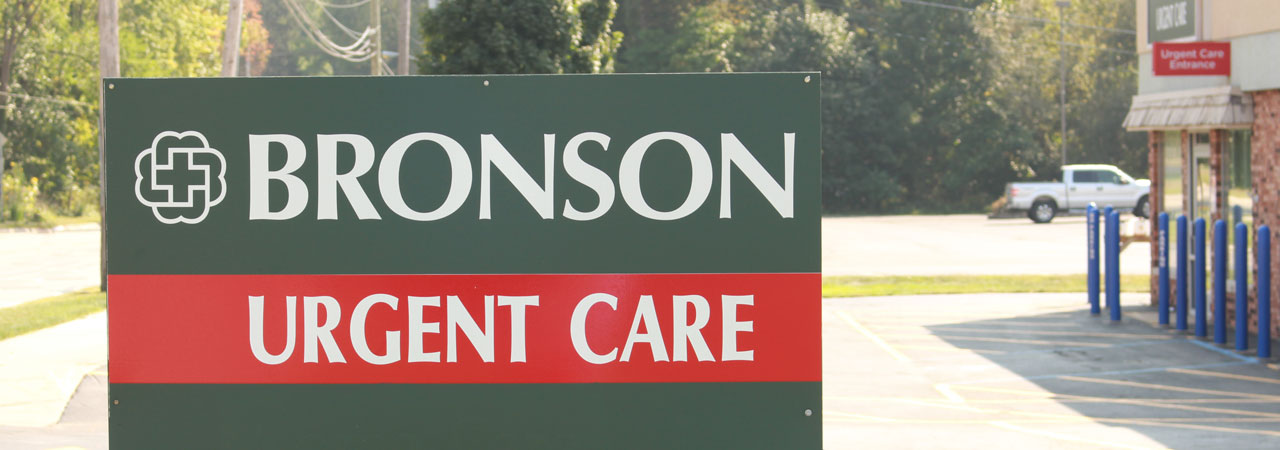 Photo of sign outside Bronson Urgent Care in South Haven.