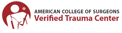 Image of American College of Surgeons verified trauma center logo.