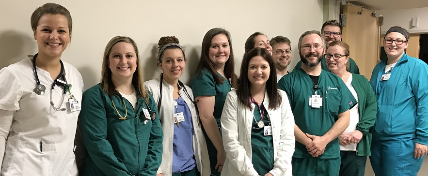 Picture of Bronson Methodist Hospital Medical Intensive Care Unit nurses