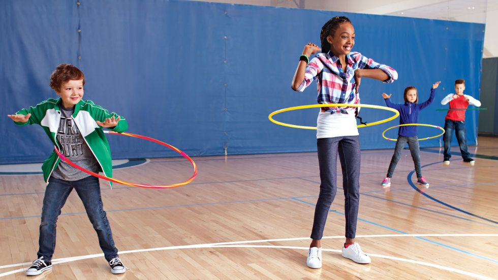 Photo of children jumping rope.