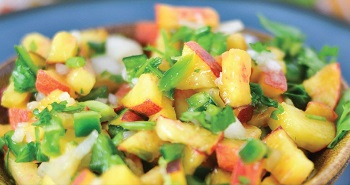 Picture of fresh peach salsa