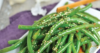Picture of sesame garlic green beans