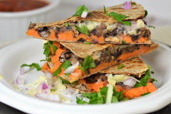 Picture of black bean and sweet potato quesadillas