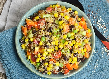Photo of tex mex quinoa salad