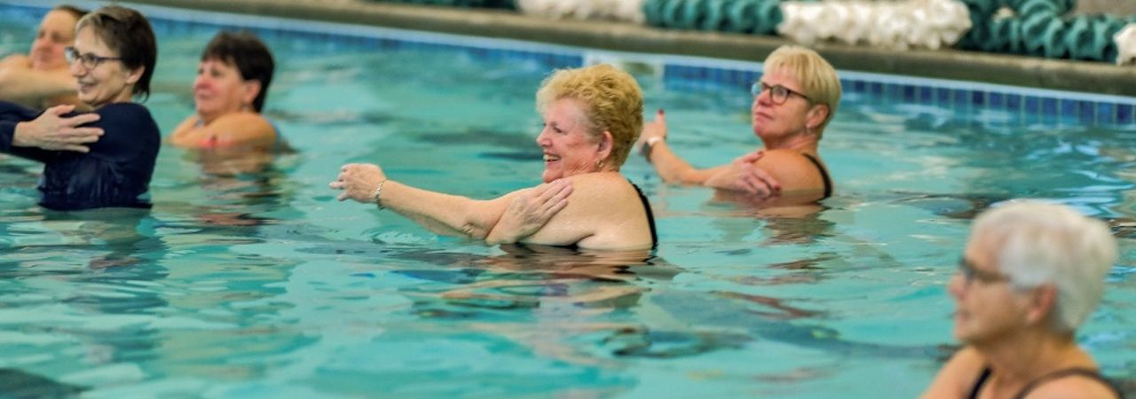 Photo of water exercise class at Bronson Wellness Center