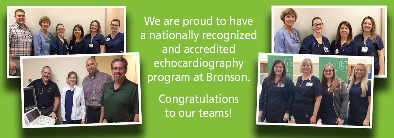 Picture of echocardiography team at Bronson.