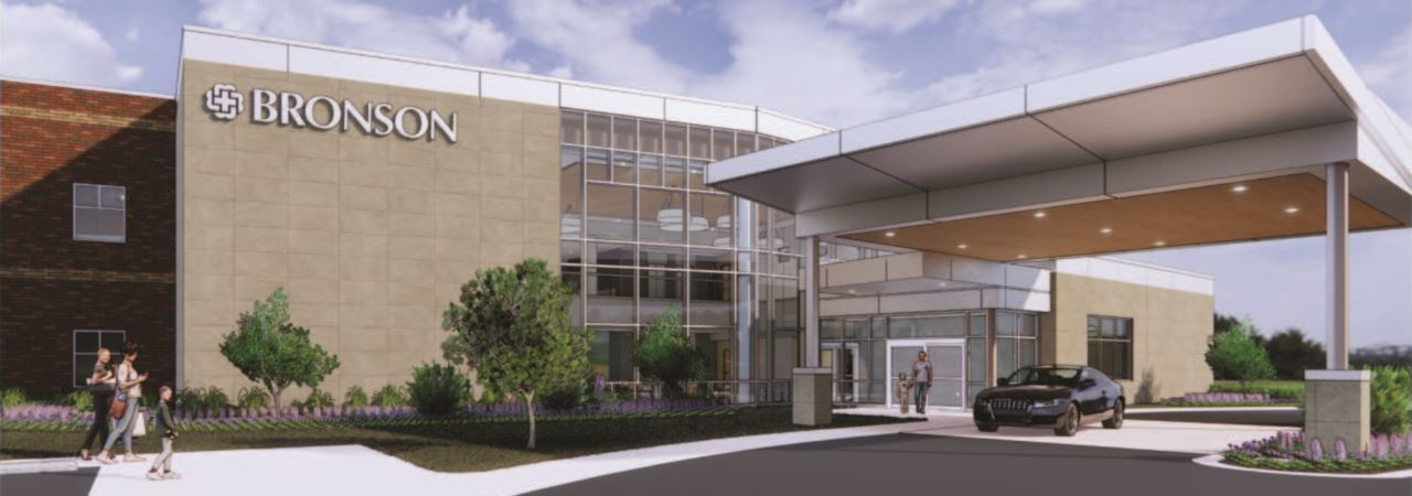 Image of a new bronson south haven hospital exterior