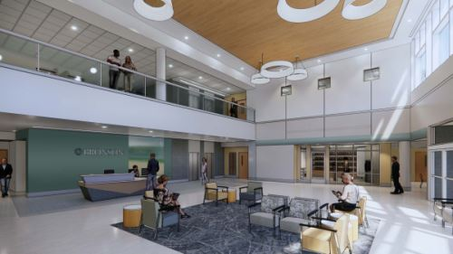 Photo of New Bronson South Haven Lobby.