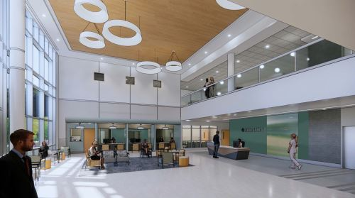 Photo of New Bronson South Haven Lobby South.