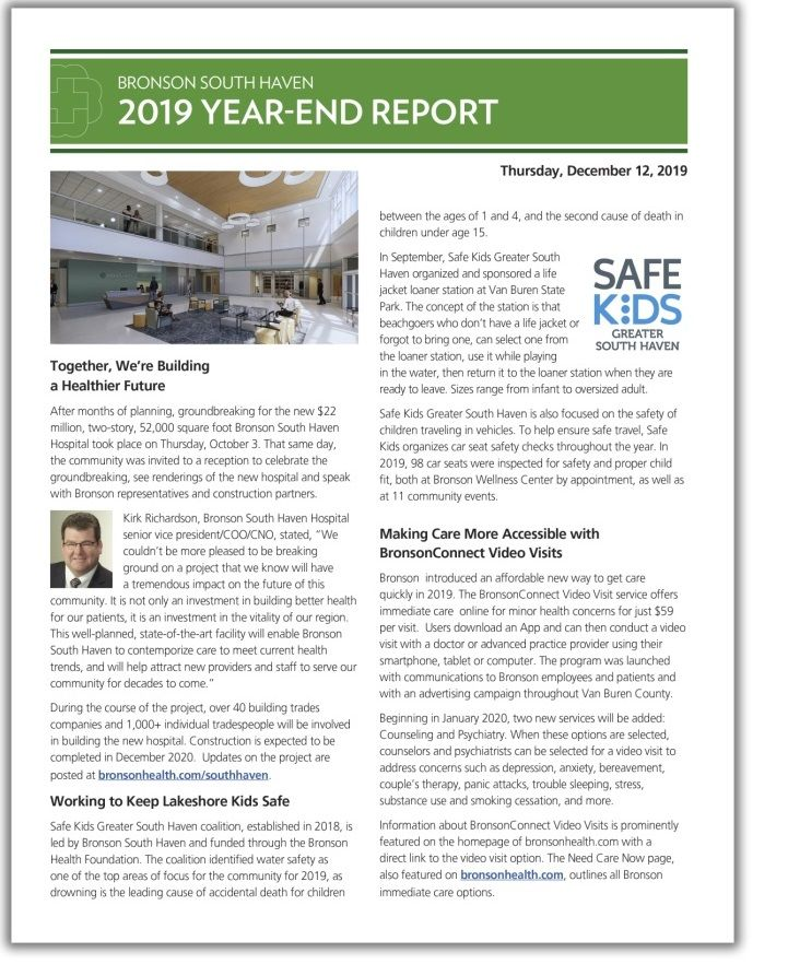 Cover of 2019 year end report