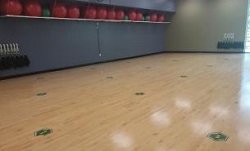 Photo of the Bronson Wellness Center group exercise studio