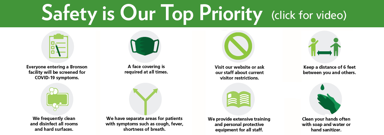 Your safety is our top priority.
