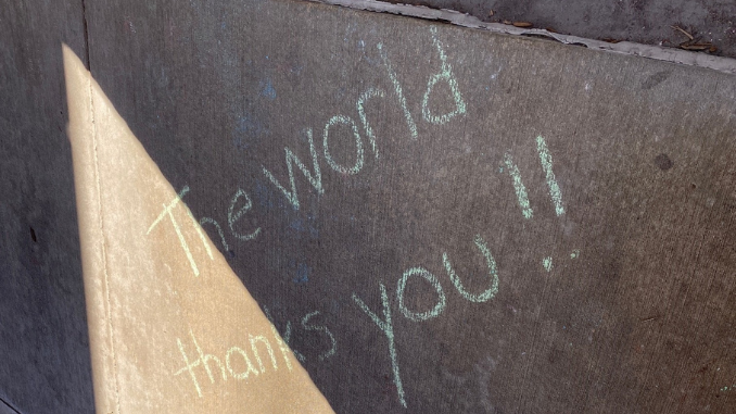 Chalk art: The world thanks you